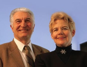 Gerald and Sally DeNardo, Photo courtesy of UC Davis Comprehensive Cancer Center