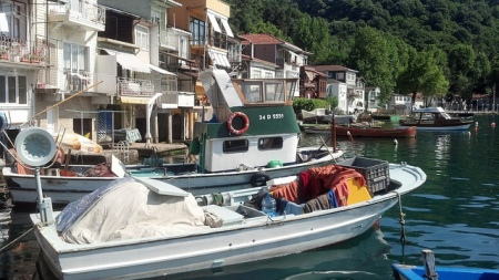 Fishing Village on Bosphorus River near Istanbul