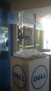 Dell Ruggedized laptop encased in ice